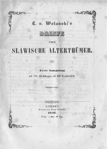 Воланский Т. Письма о славянских древностях. Часть первая.